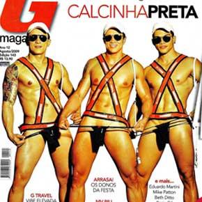 G Magazine Agosto | Dançarinos do Calcinha Preta fotos pelados