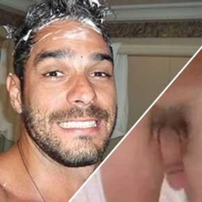 BBB14 - Diego Grossi pelado durante banho