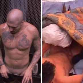BBB15 | Rafael e Fernando se descuidam e deixam o pênis à mostra