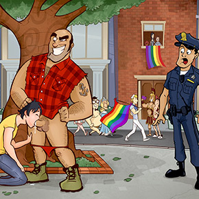 trepada na parada gay