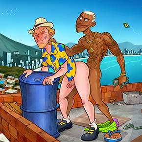 HQ turista alemão fode com favelado carioca