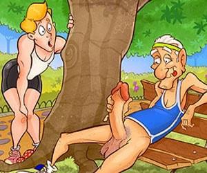 velho tarado fodendo no parque
