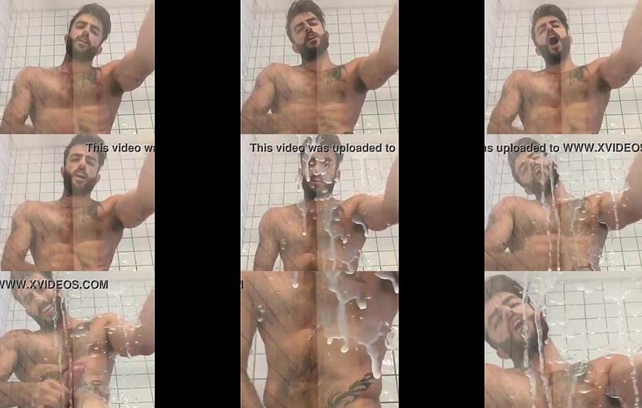 Harry Louis super cumshot in bathroom