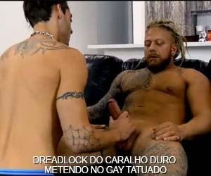 dreadlock caralho duro loiro rasta sexo gay tatuado