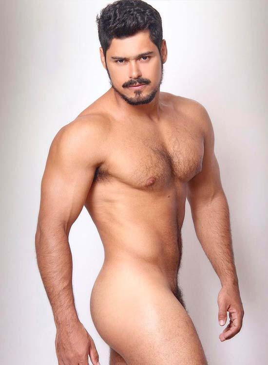 model brazilian hairy dick naked man