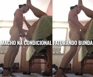 ex-detento com tornozeleira sexo gay amador